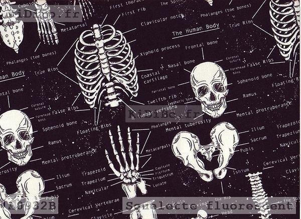 bandana chirurgien squelette fluorescent bouffant de chez kidibo. Black Bedroom Furniture Sets. Home Design Ideas